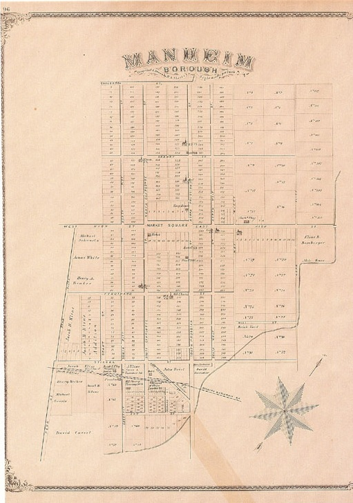 Historic Map of Manheim